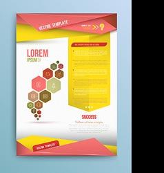 Cover Annual report colorful bird origami paper de vector image