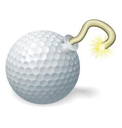 golf ball bomb concept vector image vector image