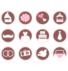 Retro wedding design elements and icons vector image