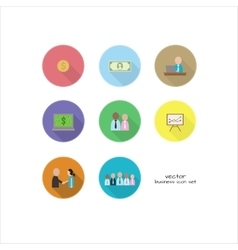 set of business thema with people and vector image vector image