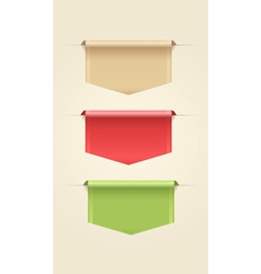Set of Web Ribbons vector image vector image