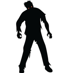 zombie isolated on white vector image