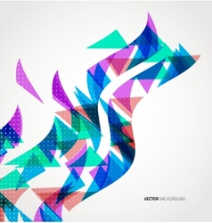 Abstract Triangle Geometric colorful wave vector image vector image