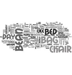 Bean bag chair bed text word cloud concept vector