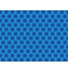 Blue circular hypnotic pattern vector image vector image