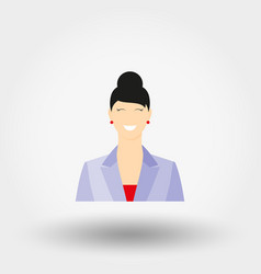 business lady in business suit icon vector image vector image