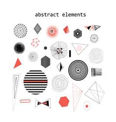 Graphic and with abstract vector image