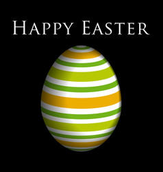 greeting card colored easter egg and text vector image vector image