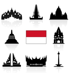 Indonesia Icon vector image