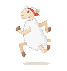sports lamb vector image vector image