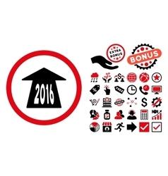 2016 Future Road Flat Icon with Bonus vector image