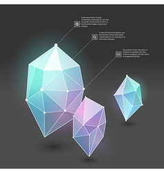 Abstract crystal web vector