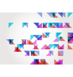 Abstract Triangle Geometric Background Template vector