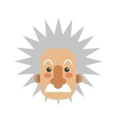 Albert einstein cartoon icon vector