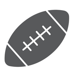 american football ball glyph icon game and sport vector image