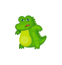 angry crocodile baisolated on white background vector image