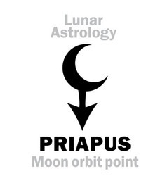 Astrology priapus moon orbit point vector