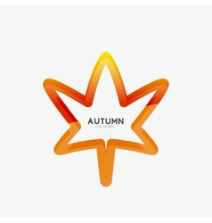 Autumn leaf logo minimal design vector