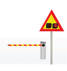 barrier with traffic light vector image