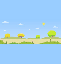 Beautiful nature landscape with hill and sky vector