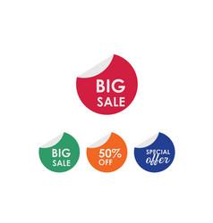 Big sale 50 off label template design vector