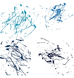 Blue splatter paint abstract on white background vector