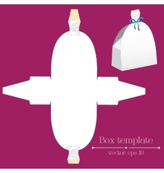 Box template White dress vector