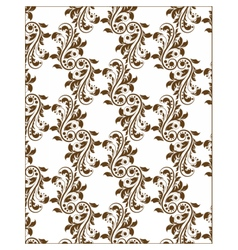 Classic royal ornament flower pattern vector image