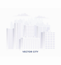 clean light white colored city silhouette vector image
