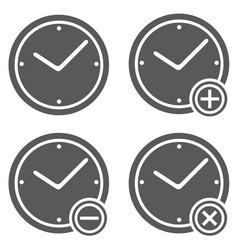 clock icon set simple vector image