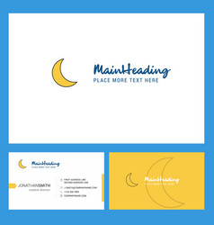 Cresent logo design with tagline front and back vector