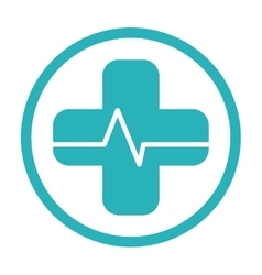 Cross medical icon vector