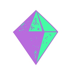 Diamond shape icon isolated abstract vector