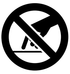 Do not touch forbidden sign modern round sticker vector