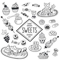 Doodle snacks vector image