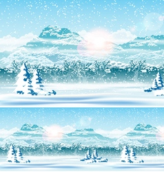Edge of the Forest and Snow vector