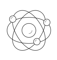 electronic atom line icon vector image