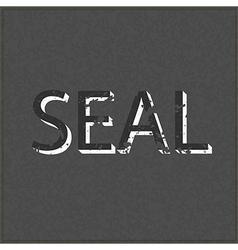 Empty Seal realistic black board in format vector