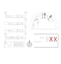 Engineering drawing isolated on white vector image