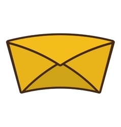 envelope letter paper isolated icon vector image vector image