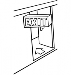 Exit door vector