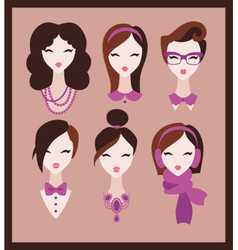 fashion girls vector image