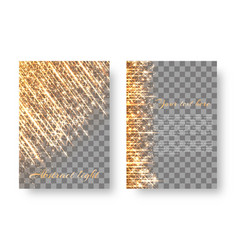 Flickering background with bright particles vector