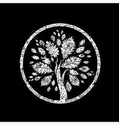 Floral logo 06 grunge vector