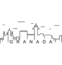 Granada outline icon can be used for web logo vector
