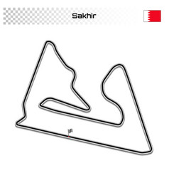 grand prix race track for motorsport and autosport vector image