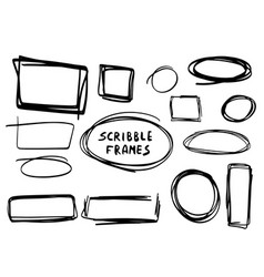 hand drawn scribble frames vector image