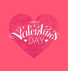 happy valentine s day cute card template vector image