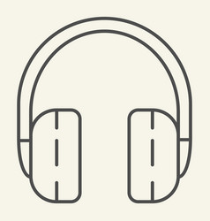 Headphones thin line icon headset vector