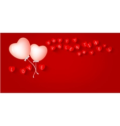 Heart balloon design for valentines day vector